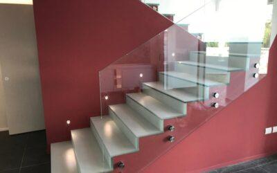 Scala in vetro per interni